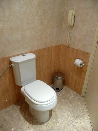 Mitsis Grand Hotel bathroom, facing toilet