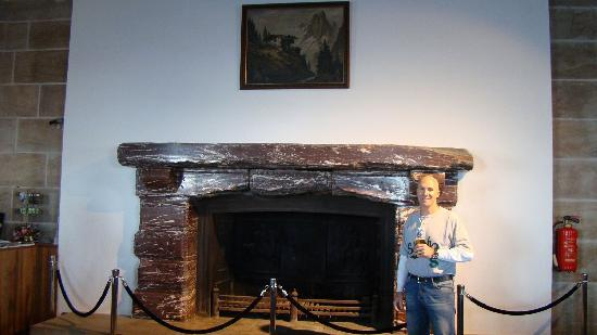 Obersalzberg: Me drinking a beer at Hitlers fireplace at Kehlsteinhaus (Eagles Nest)