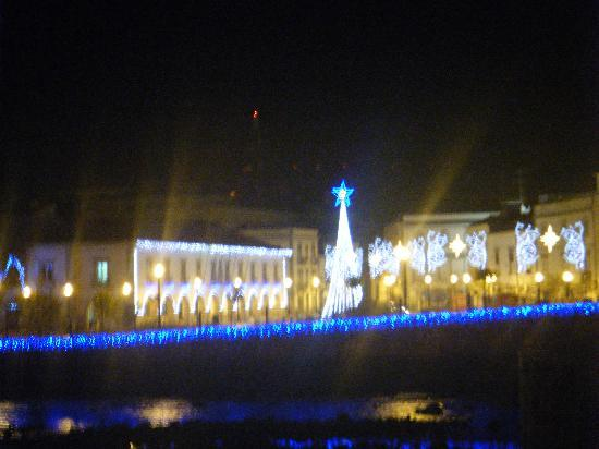 Christmas lights of Tavira