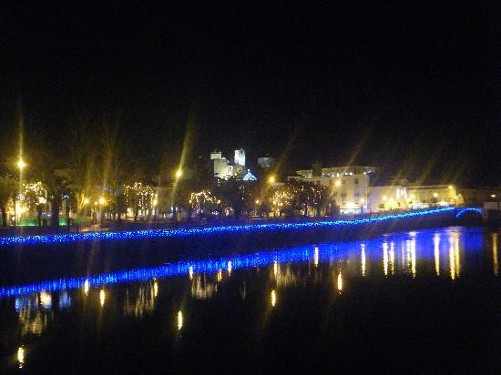 Tavira, Portugal: Lights along the river