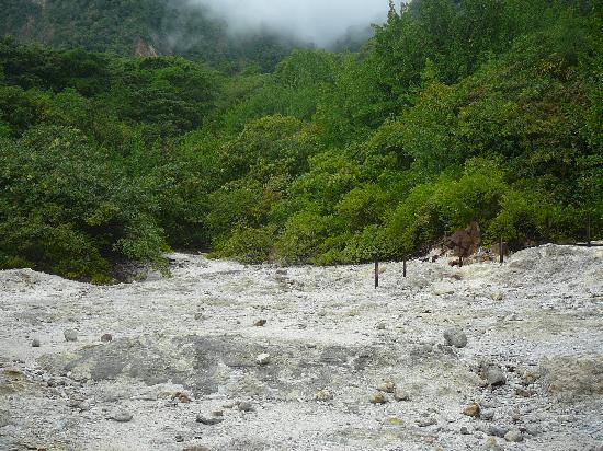 Soufriere Volcano : Baked earth
