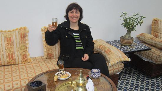 Riad Louna: et le traditionnel thé à la menthe bien sur