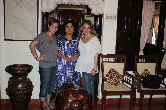 The Bungalow Heritage Homestay : My friend Trina and I with our host Neema