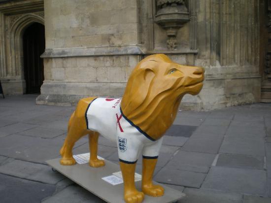 บาธYHA: Lions were scattered all over the town centre