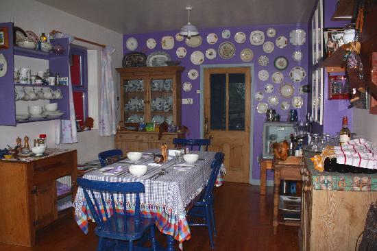 Ireland: County Clare - Clondanagh Cottage, near Tulla.  Dorothy's pretty breakfast room