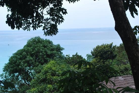 Karon Cliff Contemporary Boutique Bungalows: View from my room - Left side
