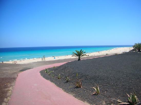IBEROSTAR Playa Gaviotas Park: Vista dalla Strada privata alla spiaggia