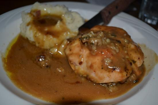 D J's Restaurant: Baked chicken stuffed with sausage