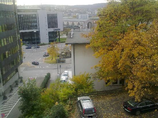 Pflieger Hotel Stuttgart: Blick aus dem Zimmer Richtung HBF
