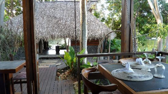 Jicaro Island Ecolodge Granada : Part of the dining area