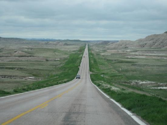 Wounded Knee Massacre Monument: It's a long road thru the S. Dakota Badlands to get to Wounded Knee