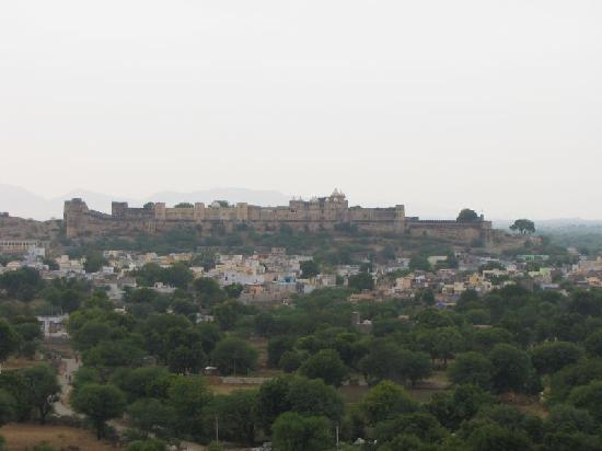 ‪‪Sardargarh Heritage Hotel‬: View of the fort as seen from a nearby temple‬