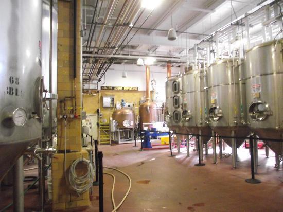 Samuel Adams Brewery : inside the brewery