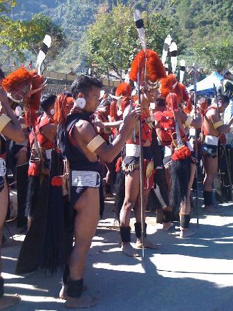 Kohima, India: Hornbill festval - Kisama Nagaland