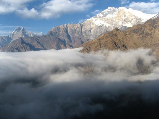 Annapurna Region, Nepal: Above the clouds