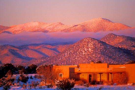 Santa Fe, New Mexiko: Sangre de Christo Mountains at Sunset