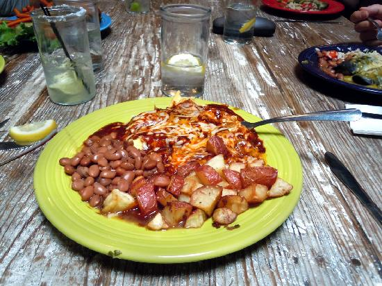 Santa Fe, NM: Huevos Rancheros with Red Chile