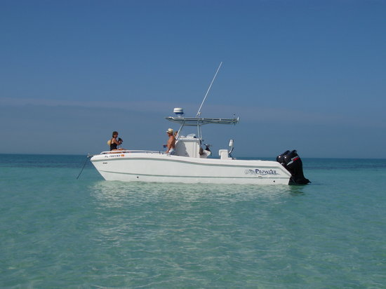 Something Fishy Charters: A shot of Capt. Romano's boat