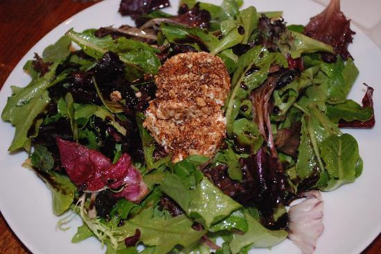 Liquid Assets Wine Bar: warm goat cheese salad