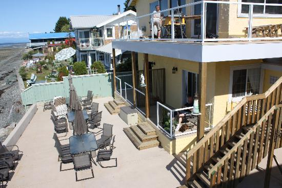 Qualicum Beach, Canada: View off of private deck of Suite 8