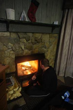 Douglas Fir Resort & Chalets: open fire