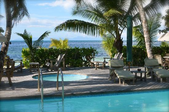 Indian Ocean Lodge: Pool mit Aussicht