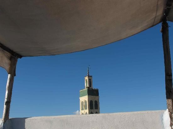 Riad Amazigh Meknes: vue depuis la terrasse