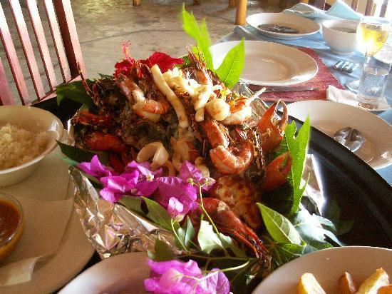 Pongwe Beach Hotel: Un superbe plateaux de crustacés