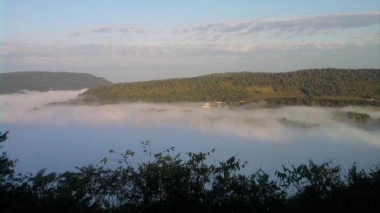 River House: A foogy Fall morning in Great Cacapon, WV