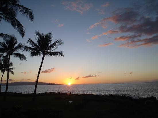 Makena Surf: Sunset from Our Lanai