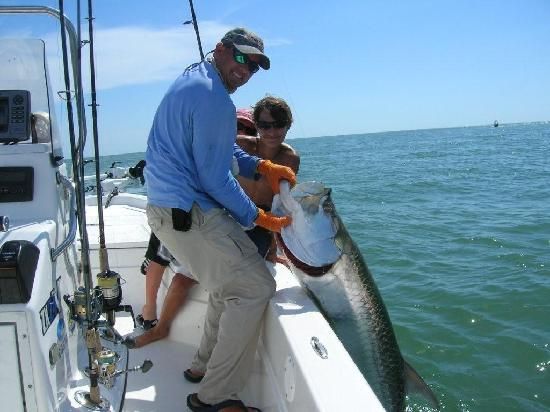 Two nice reds on a boca grande fishing charter picture for Boca grande tarpon fishing