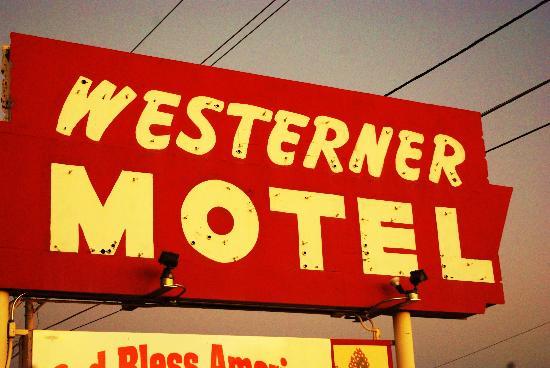 Westerner Motel: Motel sign