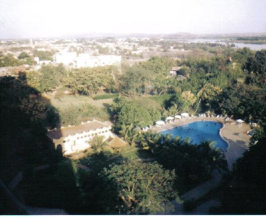 LAICO l'Amitie Hotel : View of hotel pool gardens from sixth floor room