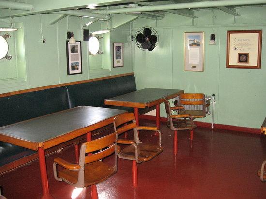 SS Jeremiah O'Brien : Jeremiah O'Brien - Mess Room