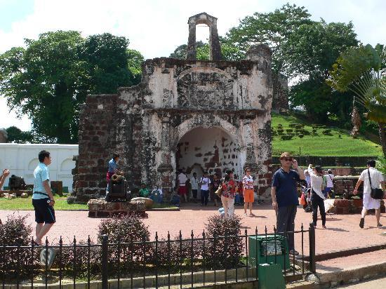 Melaka, Malaysia: Reste der portugisichen Festung