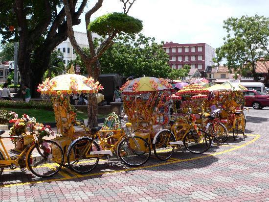 Malacca, Malaisie : Fahrradrikschas
