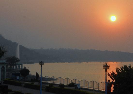 Sunset from Lago Villa Terrace
