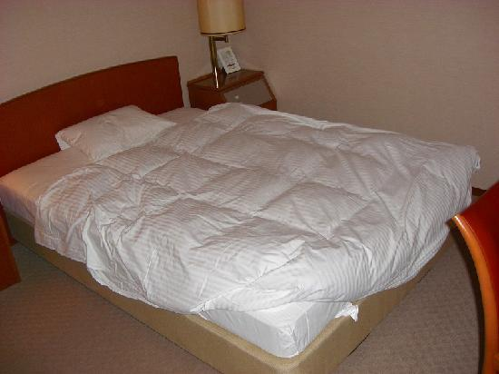 Hotel Area One Kobe: セミダブルサイズの広いベッド