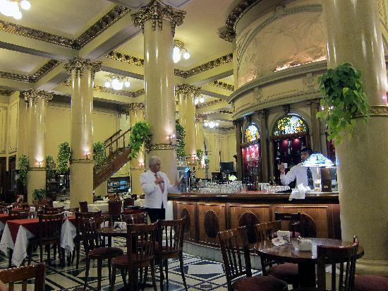 Las Violetas: Inside the cafe showing the old bar