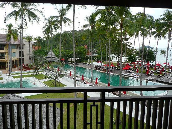The Emerald Cove Koh Chang : vue de la chambre deluxe sur le balcon
