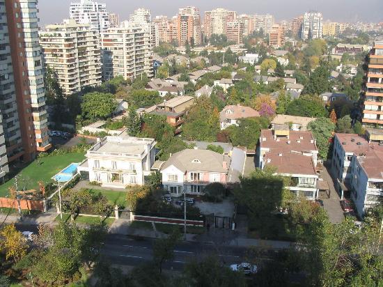 Сантьяго, Чили: Vista de Santiago desde el piso 15 de mi casa, en la calle, Vespucio sur......