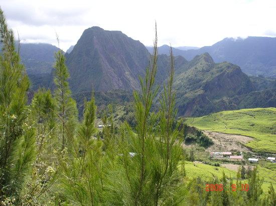 Cilaos, Reunión: montagne vue de Salazie