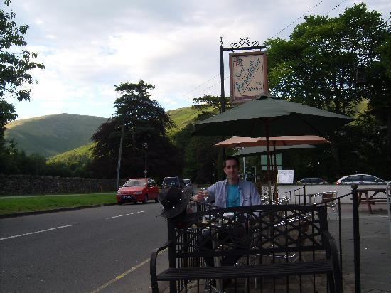 Lewis's: Sitting outside under the fells!