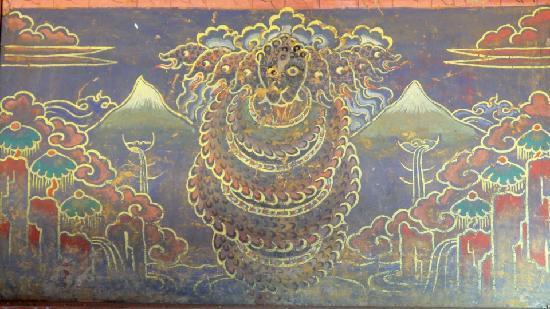 Jigme Dorji National Park : Snake Deity in Gasa Dzong
