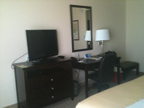 Holiday Inn Airport & Fair/Expo Center: desk & tv