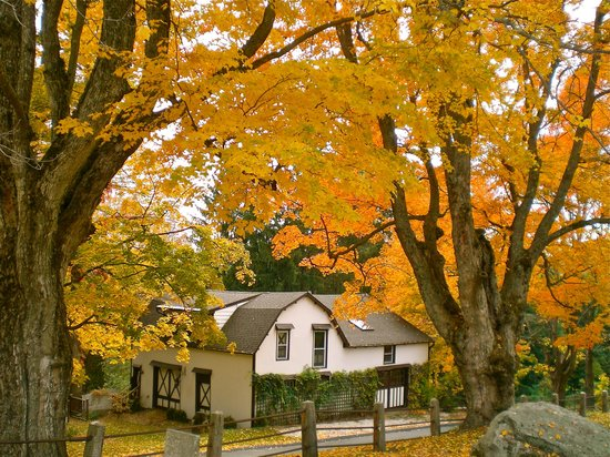 Lenox, MA: autumn (Whistler's Inn Coach house)