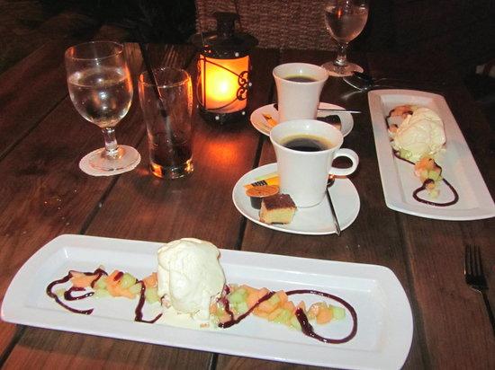 Papillon Restaurant: ice cream over fudge
