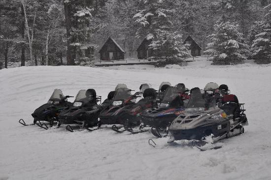 Ridin-Hy Ranch Resort: SNOW MOBILES