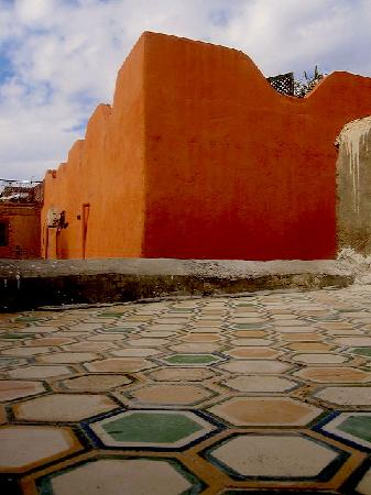 Lost in Marrakech : roof top with bee nestle tiles