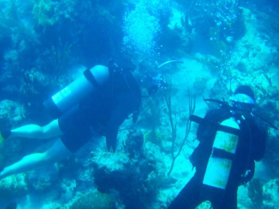 "Brendal's Dive Center: My husband & Brendal during the ""Intro to Diving"" trip. 8 Dec 2010"